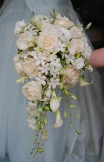 Bridal elegance Cascade bouquet