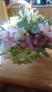 Bridal Orchids Biedermeier Bouquet( nosegay type