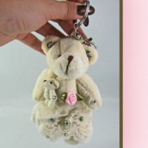 Bride Bear & Baby Key Chain Plush