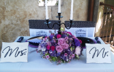 Bride & Groom Candelabra Centerpices
