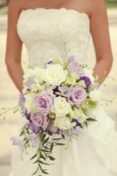 Bridal Cascade Bouquet   choice of colors