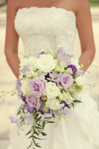 Bridal Cascade Bouquet   choice of colors