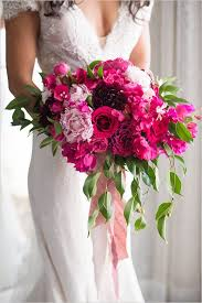 Brides Bouquet done in pink and fushia For both a Bride and can be made smaller for your girls..prices vary due to size.
