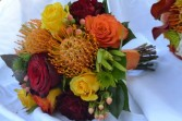 brides maid bouquet with potea wedding