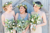 Bridesmaid Bouquets  Rustic Chic Wedding Style