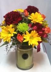 Bridgewater Candle Arrangement Candle/ Fresh Flowers
