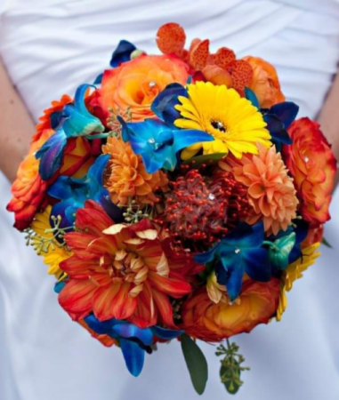 Bright and Beautiful Bridal Bouquet