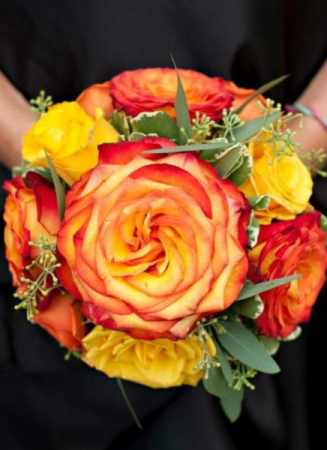 Bright and Beautiful Bridesmaid Bouquet