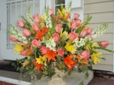 bright and beautiful flower arrangement