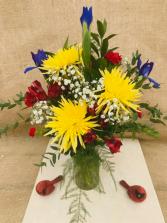 Bright and Beautiful Fresh Vase Arrangement