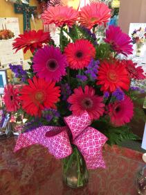 Bright and Beautiful Gerbra Dasies  Vase Arrangement