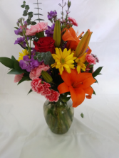 Bright and Big Mother's Day Spring Vase Beautiful Spring Arrangement