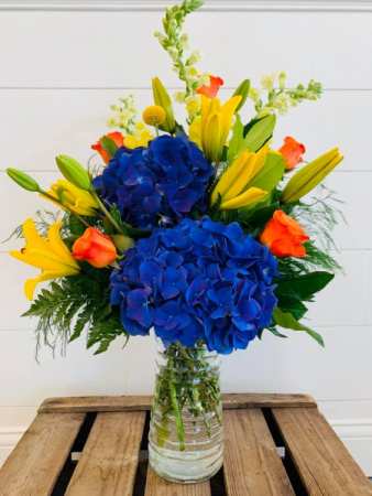 Bright and Blissful Blossoms  Floral Arrangement