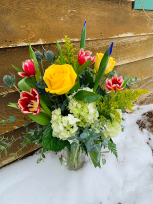 Bright and Blissful Floral Arrangement in Iowa City, IA | Every Bloomin' Thing