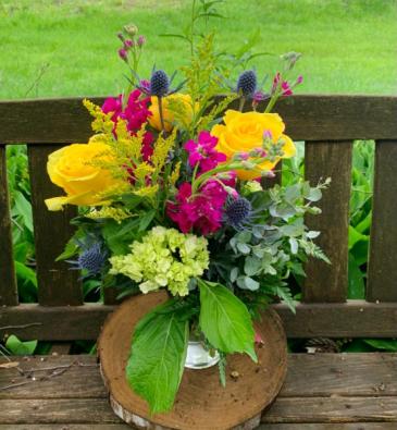 Bright and Blissful Summer Vase Arrangement