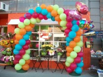 Bright and Bold Arch Balloons