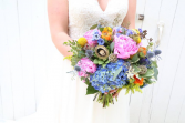 Bright and Bold Hand Tied  Bridal Bouquet