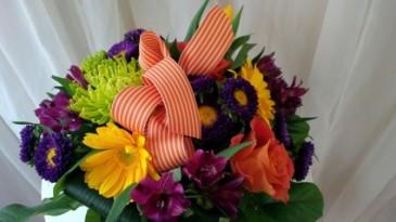Bright and Bold Vase Arrangement
