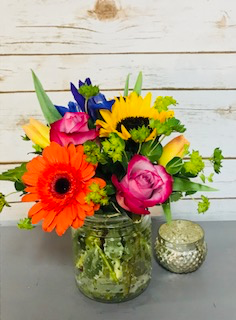 Bright and Bubbly Arrangement