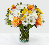 Bright and cheerful  Fresh arrangement in a vase