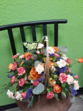 Bright and Colorful Basket Arrangement