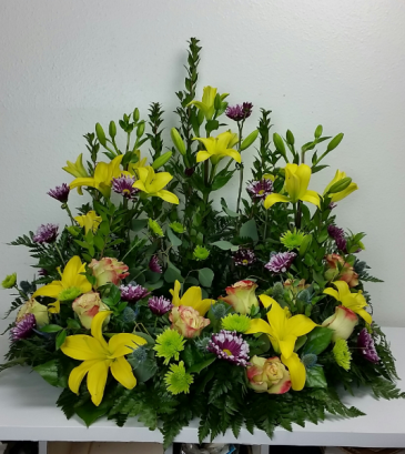 Bright and Colorful Celebration  Urn Arrangement
