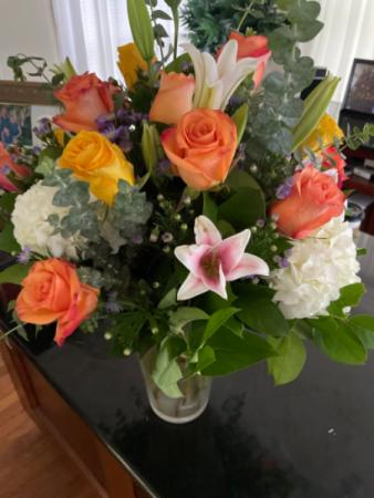 Bright and colorful Large vase arrangement