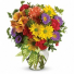 Bright and Happy Fresh flowers vased
