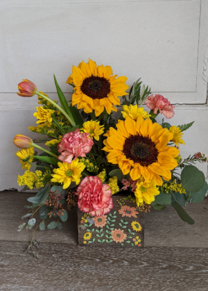 Bright and Joyful Fresh Arrangement in New Castle, IN   WEILAND'S FLOWERS