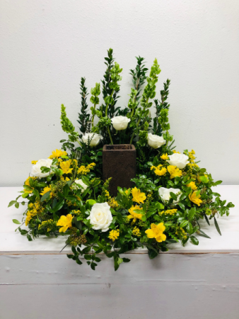 Bright and Peaceful Urn Arrangement