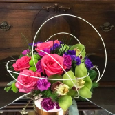 Bright and Sparkly Vase Arrangement
