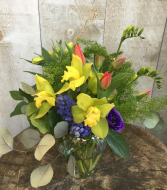 Bright and Sunny  Arrangement in a vase