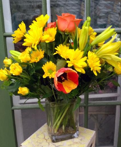 Bright and Sunny Vase Arrangement