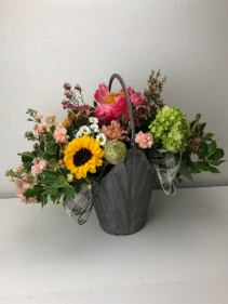 Bright and Wild Container Arrangement
