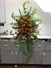 Bright as a Sunset Easel Arrangement