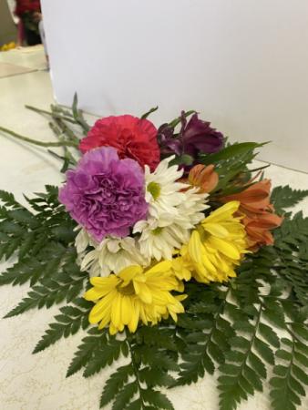 bright assortment of cut flowers cut bouquet