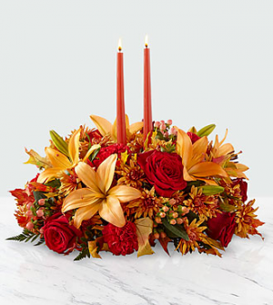 Bright Autumn™ Centerpiece by FTD  in Valley City, OH | HILL HAVEN FLORIST & GREENHOUSE