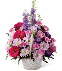 Bright Basket of Flowers  in Lebanon, NH | LEBANON GARDEN OF EDEN FLORAL SHOP