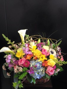 Bright Basket  in Fresno, CA | FLOWERS AND MORE