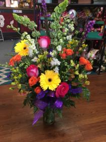 Bright, Beautiful and Fun  Vase Arrangement