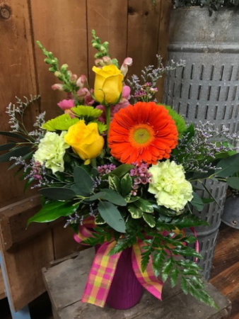 Bright & Beautiful Bouquet Vibrantly Colored Arrangement