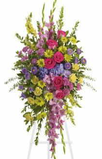 Bright &Beautiful Spray Funeral