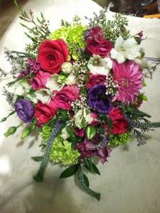 bright & beautiful wild flower vase mix