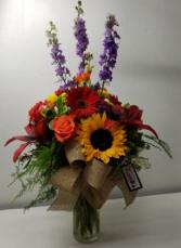 Bright Colors Vase Arrangement