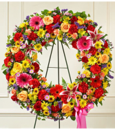 Bright Blessings Standing Wreath