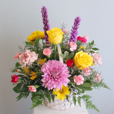 Basket of Bright Blooms