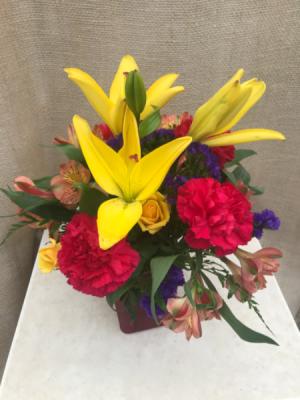 Bright Blossoms  Fresh vase arrangement  in Coleman, WI | COLEMAN FLORAL & GREENHOUSES