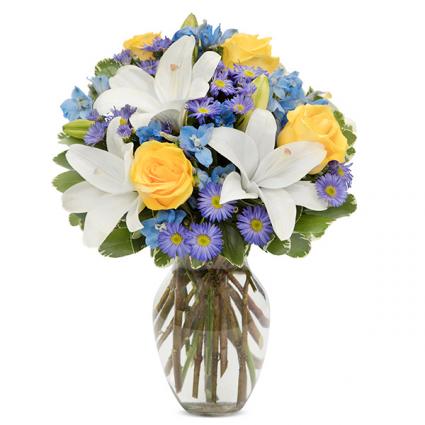 Bright Blue Skies Bouquet Summer