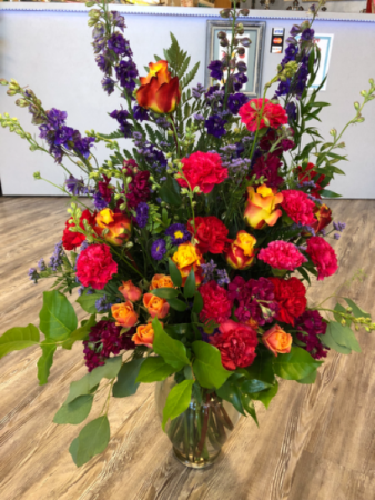 Bright, Bold and Beautiful Vase Arrangement