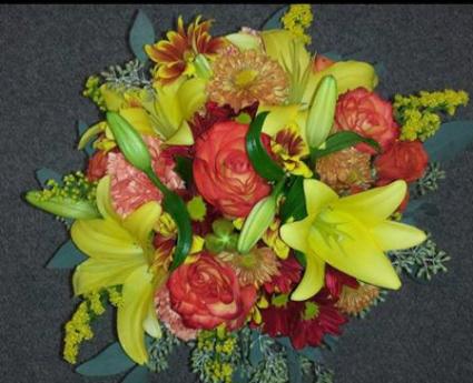 Bright Bountiful Wedding Bouquet